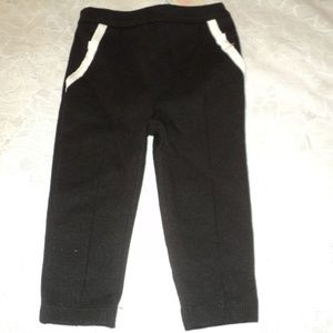 NEW Janie and Jack Girl's 6-12 Months Pants Black
